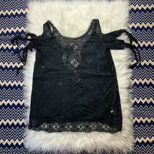 Free People Black Lace Swim Cover